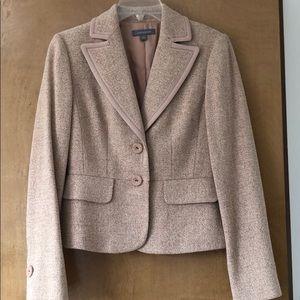 Blush Tweed Ann Taylor Blazer